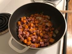 Ham/Apple/Sweet Potato Scramble 3