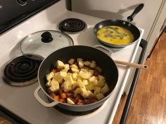 Ham/Apple/Sweet Potato Scramble 4