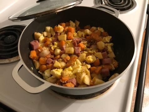 Ham/Apple/Sweet Potato Scramble 6