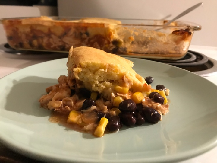 Cornbread Chicken Enchiladas